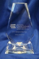 excelling charter school, award