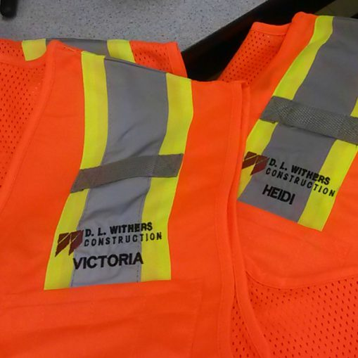 safety vests with names on them