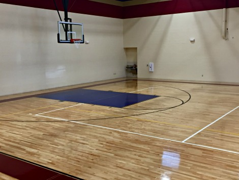 half cour view of new basketball court